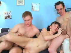 Amateur, Teen, Hardcore, Blowjob, Russian, Threesome, 18 Years Old Girls, Brunette