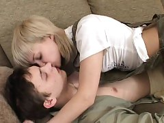 Teen, Blonde, Blowjob, Small Tits, 18 Years Old Girls