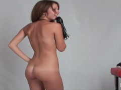 Teen, Masturbation, Shaved, Skinny, Small Tits, 18 Years Old Girls, Brunette, Webcam, Teens
