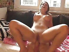 Amateur, Teen, Big Cock, Big Tits, Blowjob, Creampie, German