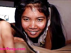 HD Thai Teen Heather Impenetrable depths gives deepthroat throatpie