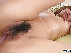 Japanese brunette, Rui Asahina got creampied validation having se