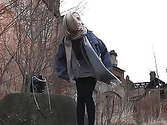 Teen, Blonde, European, Outdoor, Pussy, Babe, Pissing, Teens