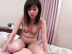Airi unfathomable cavity throats a bushwa check b determine having the brush alluring pussy toyed