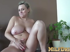 Blonde girls, Milf, big-ass, big-tits, fingering, hairy, lingerie, solo-female