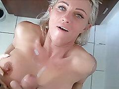 Amateur, Blondes, Cumshot, Milf, POV, Cum, Big Tits, German, HD
