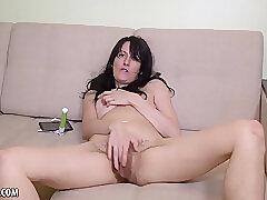 Amateur, Milf, brunette, hd, hairy, solo-female, toys