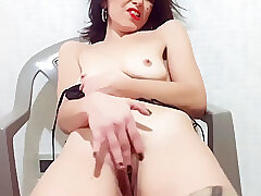 Amateur Sex, Milf, brunette, hd, solo-female, stockings