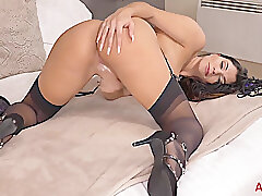 Amateur, Milf, Webcam, american, big-tits, brunette, european, fingering, solo-female, stockings