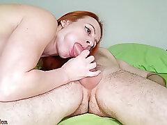 Amateur, Big Cock, Milf, Cock, Couple, Deepthroat, HD, Red Head, Russian