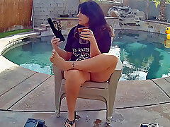 Amateur, Fetish, Milf, big-tits, foot-fetish, hd, outdoor, smoking, solo-female