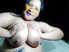 Amateur, Milf, Webcam, BBW, Big Tits, Brunette, HD, Latina, Solo Female, Tattoo