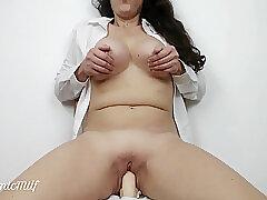 Amateur, Milf, big-ass, big-tits, brunette, hd, solo-female, toys