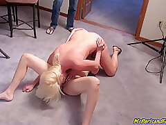Blonde, Milf, Threesome, big-tits, brunette, close-up, compilation, cunnilingus, face-sitting, female-orgasm
