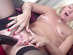 Amateur, Blonde, Milf, Webcam, hd, hairy, solo-female, squirt, stockings, toys