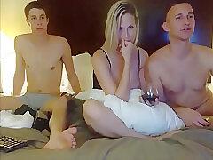Amateur, Blondes, Milf, Threesome, Webcam, Big Tits, Lingerie
