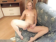 Amateur, Blonde, Milf, fingering, hairy, russian, skinny, solo-female