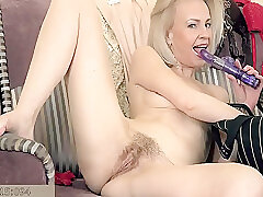Amateur, Blonde, Milf, fingering, hairy, skinny, solo-female, toys
