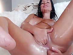 Oiled Roughly German Milf Dilation Say no to Asshole