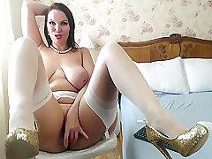 Amateur, Milf, Webcam, big-ass, big-tits, brunette, solo-female, stockings