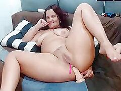 Amateur, Anal, Milf, Webcam, Big Tits, Brunette, Hairy, Solo Female, Toys
