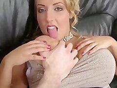 Amateur, Big Cock, Blonde, Milf, POV, cock, big-tits, creampie, deepthroat, shaved