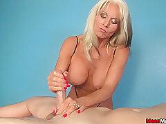 Amateur, Blonde, Cumshot, Milf, Handjob, cum, big-tits, hd, massage
