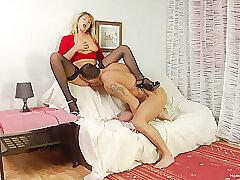 Amateur, Blondes, Milf, Rimming, Big Tits, Cunnilingus, HD, Stockings