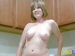 Amateur, Milf, big-tits, casting, solo-female, tattoo