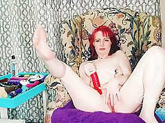 Amateur, Milf, Female Orgasm, HD, Red Head, Solo Female, Toys