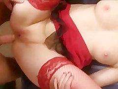 Anal, Blowjob, Cumshot, Milf, Small Tits, Cum, Couple, Fingering, Lingerie, Stockings