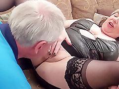 Mature, Blowjob, Fetish, Milf, BBW, Big Tits, Couple, Lingerie, Stockings