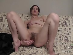 Milf, brunette, hd, hairy, solo-female