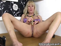 Mature, Blondes, Milf, Big Tits, British, Granny, Secretary, Solo Female, Stockings, Striptease, Toys