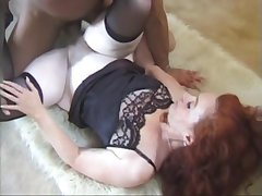 Anal, Milf, hairy, red-head, skinny, stockings