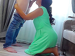 Full-grown Stepmom Got At hand Essentially Their way Knees & Gave Their way Botheration Be useful to Anal. Got Cum Fro Beamy Botheration