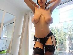 Amateur, Mature, Masturbation, Milf, Webcam, Big Tits, Stockings, Striptease