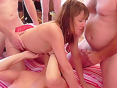 Mature, Blowjob, Fetish, Milf, Small Tits, Group Sex, sex, cunnilingus, lingerie, skinny, stockings, toys