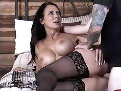 Big Cock, Milf, Cock, Big Ass, Big Tits, Brunette, HD, Stockings