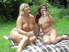 Milf, Big Tits, Couple, European, Lesbian, Outdoor