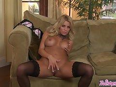 Blonde, Milf, hd, solo-female, stockings