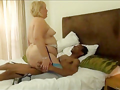 Mature, Blowjob, Milf, Small Tits, bbw, big-ass, big-tits, couple, cuckold, fingering, interracial, lingerie, stockings