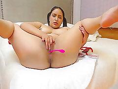 Amateur, Milf, Webcam, Big Tits, Brunette, Fingering, French, Solo Female, Toys