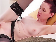 Amateur, Mature, Big Cock, Milf, cock, cunnilingus, hd, interracial, old-and-young, red-head, skinny, stockings