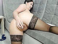Amateur, Milf, Webcam, Big Tits, Brunette, Russian, Solo Female, Stockings, Toys