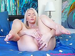 Amateur, Blondes, Milf, Webcam, Big Ass, Fingering, Lingerie, Solo Female, Tattoo