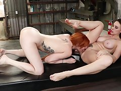 Anal, Milf, Big Ass, Big Tits, Brunette, Fingering, Fisting, Gaping, HD, Hairy, Lesbian, Red Head, Strapon, Tattoo, Toys