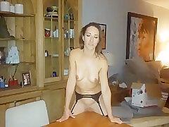 Amateur Sex, Milf, POV, brunette, stockings, toys