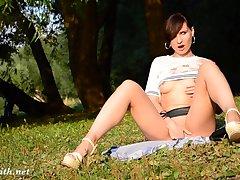 Milf, Brunette, HD, Outdoor, Solo Female