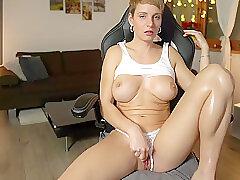 Amateur, Blonde, Milf, Webcam, big-tits, european, lingerie, solo-female, toys